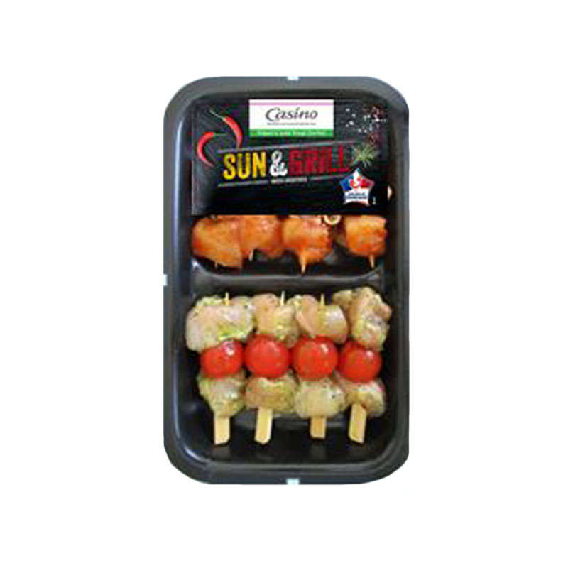 Mini brochettes poulet miel figue - x8