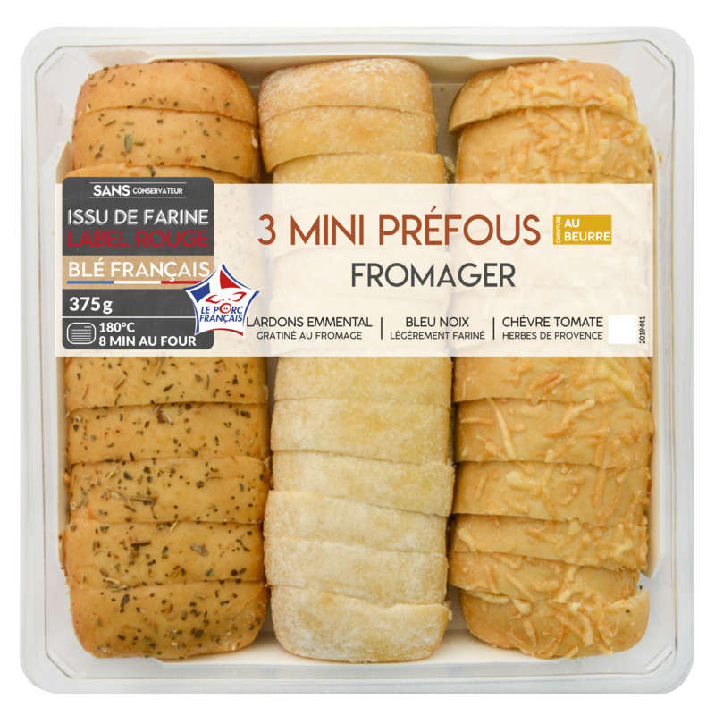 Mini pains prefou fromagers - x3