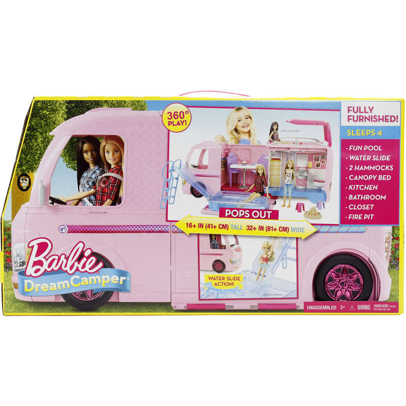 Barbie - Campingcar transformable - Dès 3 ans