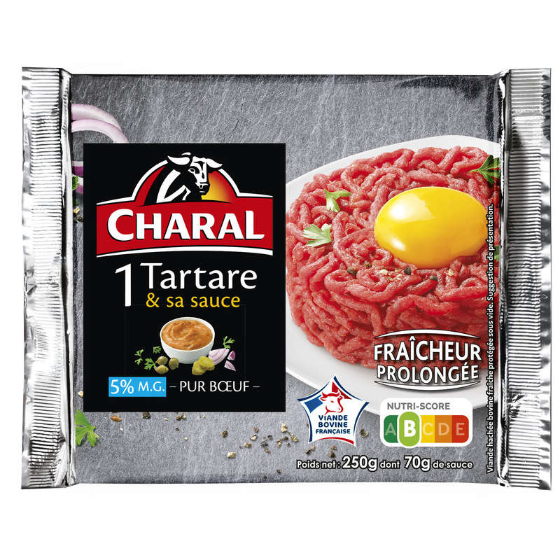 1 tartare et sa sauce - Steak haché - 5% mg