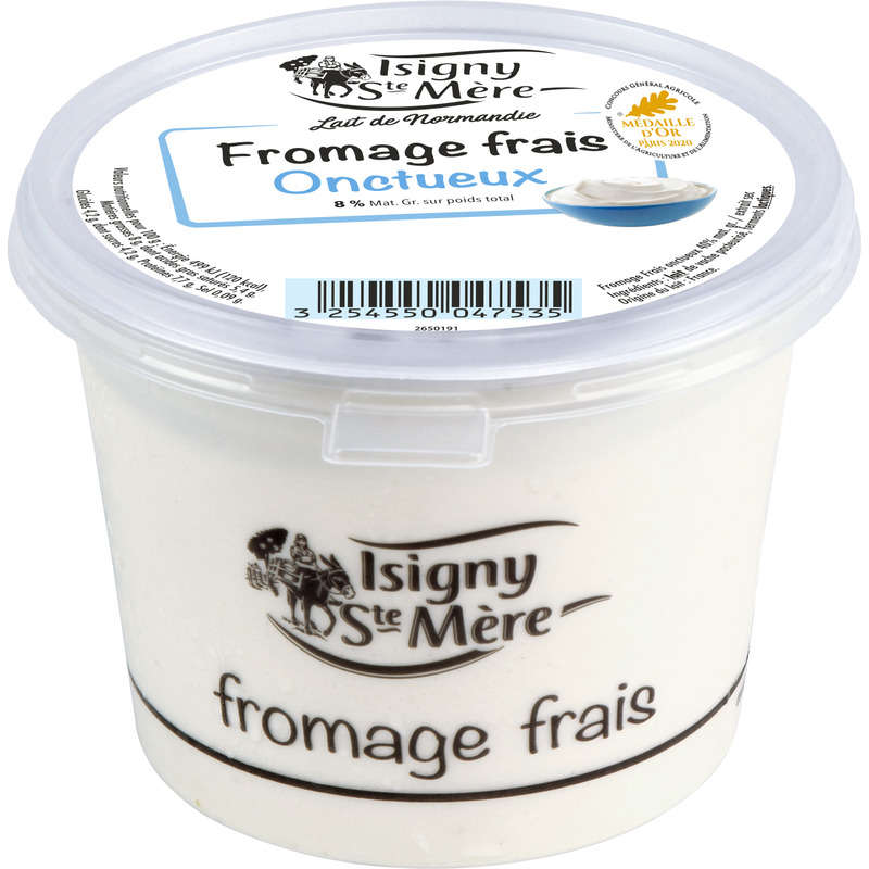 Fromage blanc onctueux - 8% mg