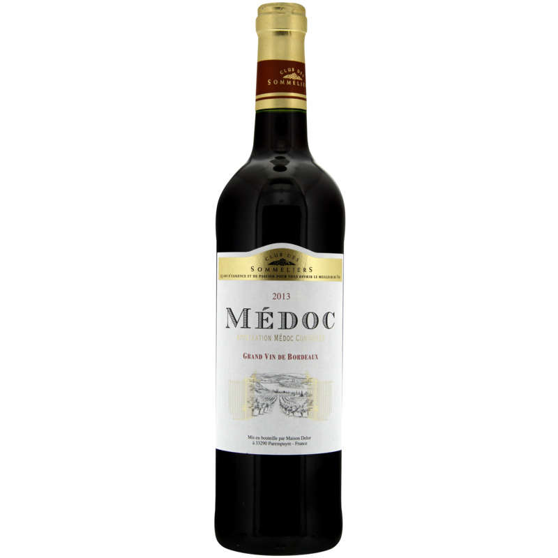 Médoc - Grand vin de Bordeaux - Alc. 12% vol.- Vin rouge