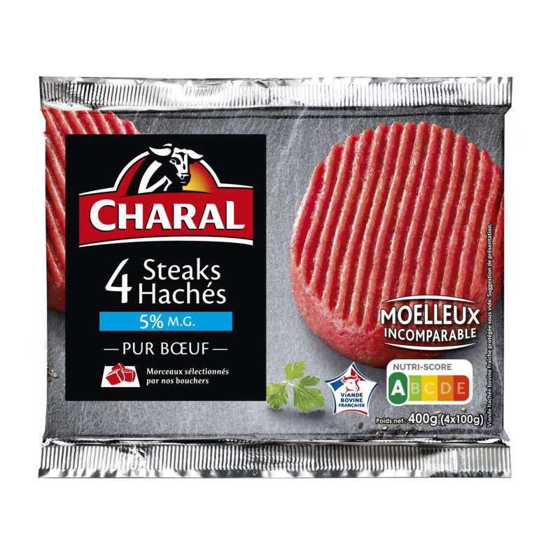 Steaks hachés - 5% mg