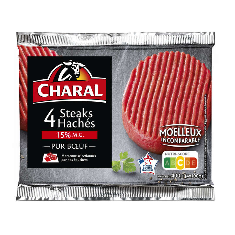 Steak haché 15%MG - x4