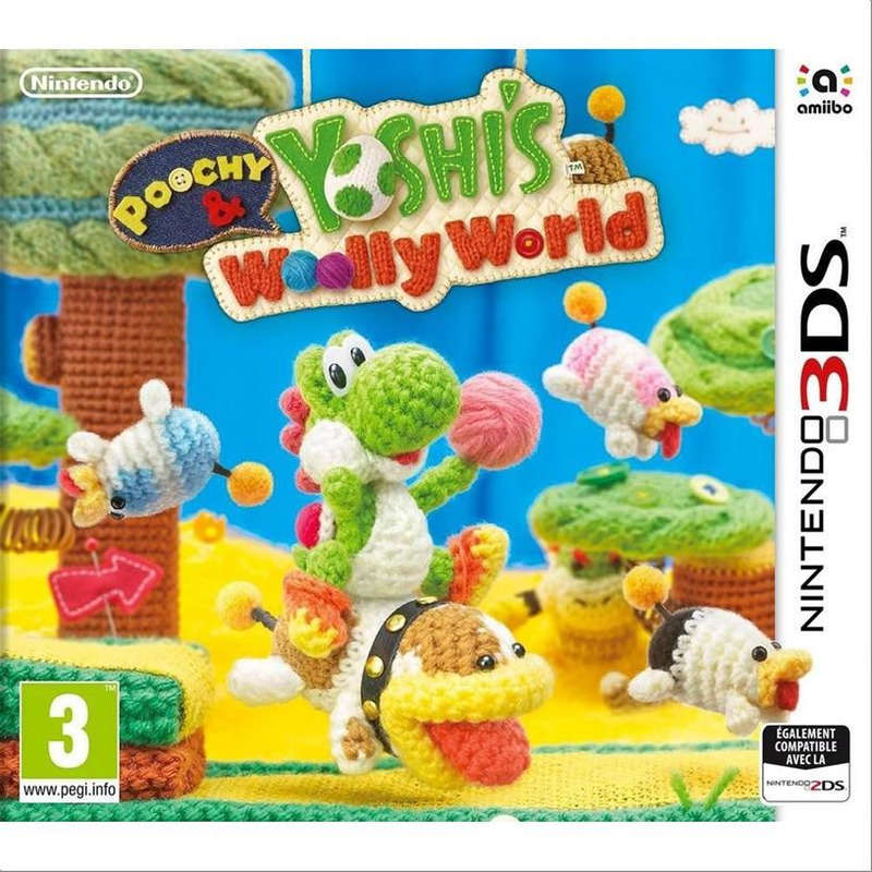 Poochy Yoshis Wooly w - Jeu 3DS