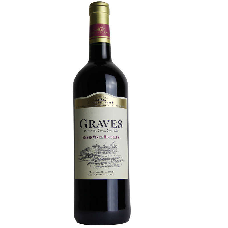 Graves - Grand vin de Bordeaux - Alc. 12,5% vol.- Vin rouge