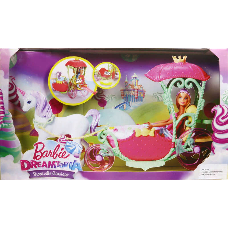 Barbie Dreamtopia - Sweetville carriage - Dès 3 ans