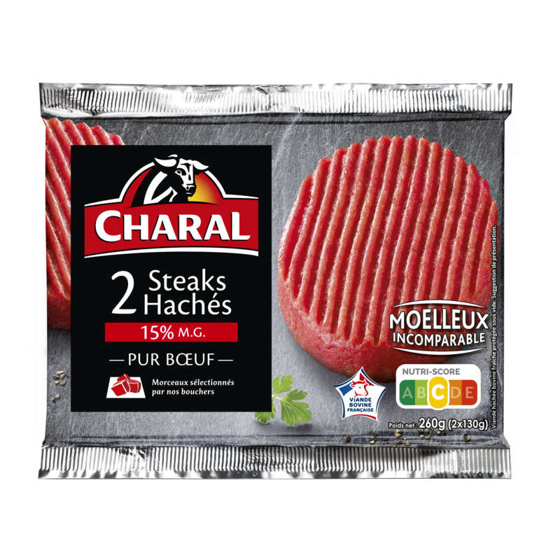 Steaks hachés - 15% mg