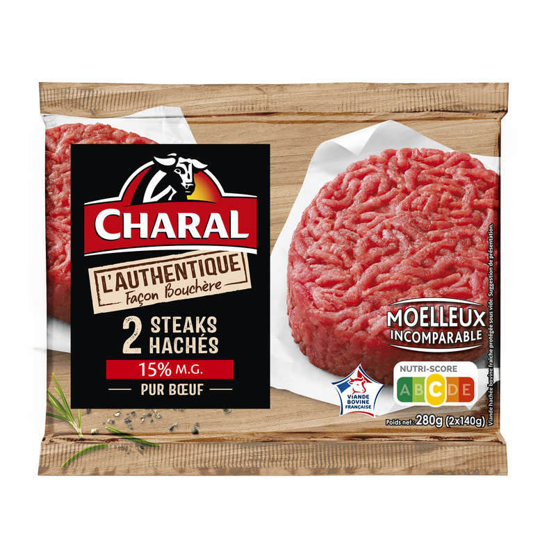 Haches de bœuf authentique 15%MG - x2