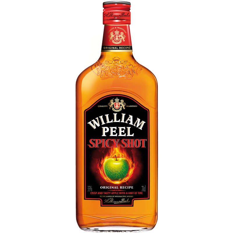 Spicy shot - Whisky - Touche de pomme - Alcool 35% vol.