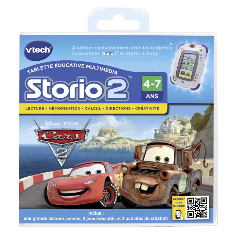 Jeu educatif storio cars 2